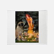 Fairies / Bullmastiff Throw Blanket