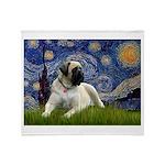 Starry / Bullmastiff Throw Blanket