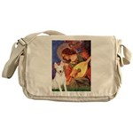 Mandolin Angel / Bull Terrier Messenger Bag