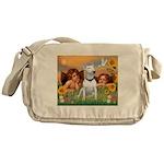 Angels & Bull Terrier #1 Messenger Bag
