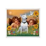 Angels & Bull Terrier #1 Throw Blanket