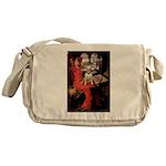 The Lady's Bull Terrier Messenger Bag