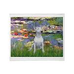 Lilies2-Bull Terrier (P) Throw Blanket