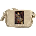 Ophelia / Bull Ter Messenger Bag