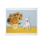 Sunflowers / Bully #4 Throw Blanket