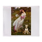 Windflowers Bull Terrier Throw Blanket