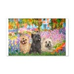 Garden/3 Cairn Terriers 20x12 Wall Decal