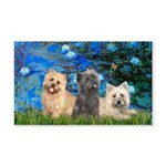 Lilies3/3 Cairn Terriers 20x12 Wall Decal