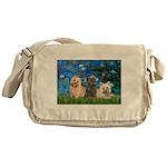 Lilies3/3 Cairn Terriers Messenger Bag