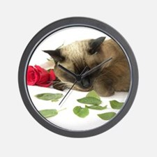 Unique Siamese cat Wall Clock