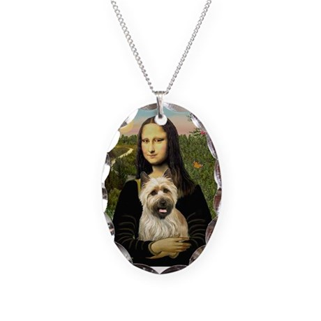 Mona / Cairn T (brin) Necklace Oval Charm
