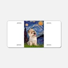 Starry Night / Cairn Terrier Aluminum License Plat