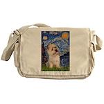 Starry Night / Cairn Terrier Messenger Bag
