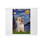 Starry Night / Cairn Terrier Throw Blanket