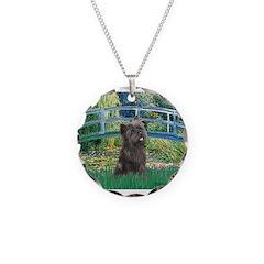 Bridge /Cairn Terrier (w) Necklace Circle Charm