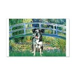 Bridge / Catahoula Leopard Dog 20x12 Wall Decal