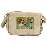 Irises & Cavalier Messenger Bag