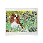 Irises & Cavalier Throw Blanket