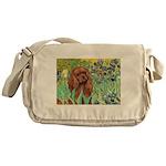 Irises & Ruby Cavalier Messenger Bag