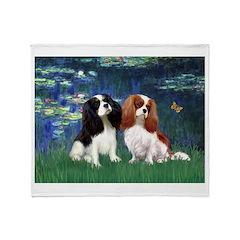 Lilies (5) & Cavalier Pair Throw Blanket
