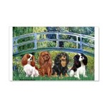 Bridge & 4 Cavaliers 20x12 Wall Decal