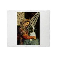 Madonna & Tri Cavalier Throw Blanket