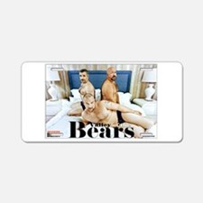 Valley of the Bears Aluminum License Plate