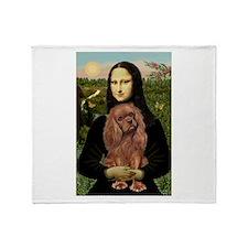 Mona's Ruby Cavalier Throw Blanket