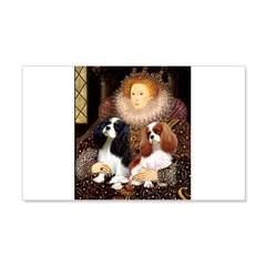The Queens Cavalier Pair 20x12 Wall Decal