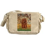 Spring and Ruby Cavalier Messenger Bag