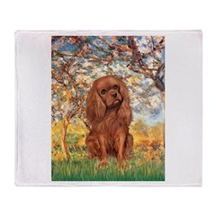 Spring and Ruby Cavalier Throw Blanket