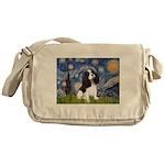 Starry Night Tri Cavalier Messenger Bag