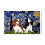 Starry Cavalier Pair 20x12 Wall Decal