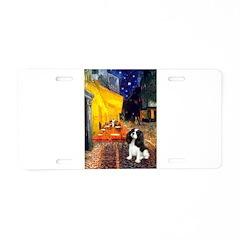 Cafe & Tri Cavalier Aluminum License Plate