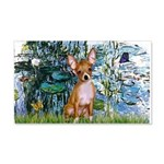 Lilies & Chihuahua 20x12 Wall Decal