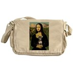 Mona Lisa / Chihuahua Messenger Bag