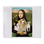 Mona / 3 Chihs Throw Blanket