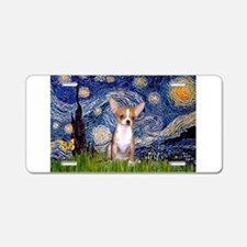 Starry Night Chihuahua Aluminum License Plate