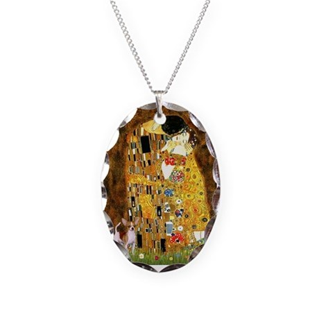 The Kiss & Chihuahua Necklace Oval Charm