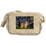Starry/Puff Crested Messenger Bag