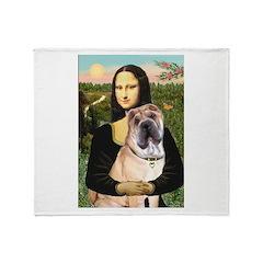 Mona Lisa's Shar Pei (#5) Throw Blanket