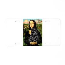 Mona's Black Shar Pei Aluminum License Plate