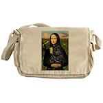 Mona's Black Shar Pei Messenger Bag