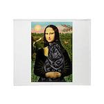 Mona's Black Shar Pei Throw Blanket