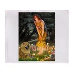 Fairies / Chow #1 Throw Blanket