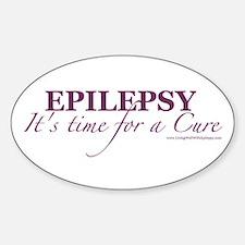 Cute Cure epilepsy Sticker (Oval)
