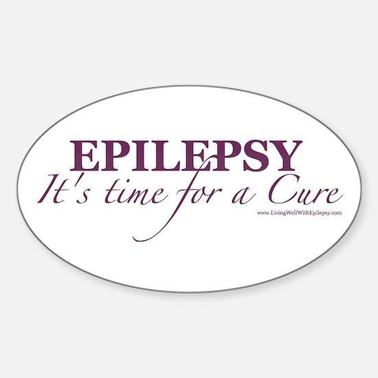 Cute Epilepsy Sticker (Oval)