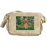 Bridge / Cocker Spaniel (buff) Messenger Bag