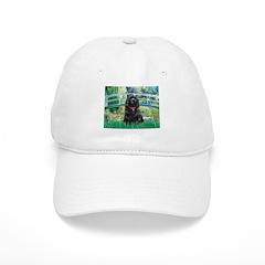 Bridge / Black Cocker Spaniel Baseball Cap