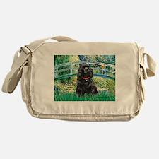 Bridge / Black Cocker Spaniel Messenger Bag